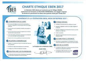 Charte étique Eben 2017 - Location d'une photocopieuse Canon